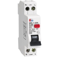 Meba C Type AC RCCB with Overload Protection MDZLE-32-A