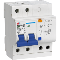 Meba residual current breaker with overload Protection RCBO breaker MBB2