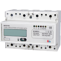 Meba-three phase electronic din rail active KWH meter-MB021GC
