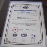 Meba ISO9001-2008  Certification