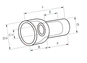 CE Closed-End Wire Connectors Dimension