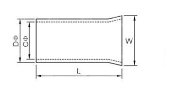 EN Tube Naked Terminal Dimension