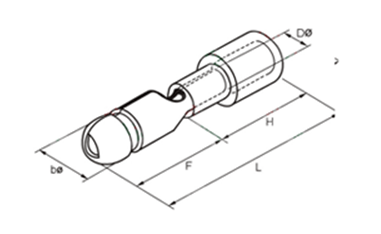 MPD Bullet Shaped Male Pre-insulating Joint Dimension