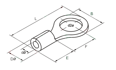 RNB Circular Naked Terminal Dimension