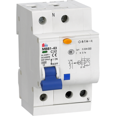 Meba residual current circuit breaker with overload protection electrical rcbo MBB1