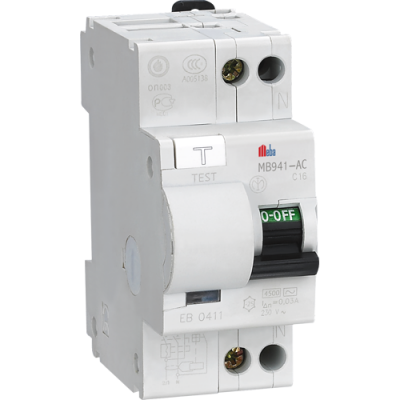 Meba residual current circuit breaker with overload protection rccb rcbo MB941