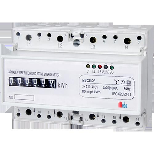 Meba-din rail mounted power meters-MB021DF