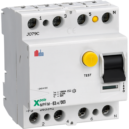 meba earth leakage circuit breaker MPFIM4