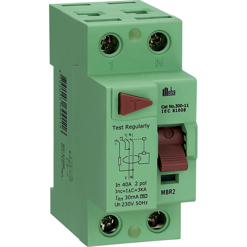 meba residual current device MBR2