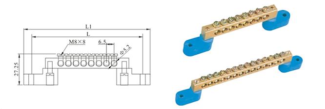 MBCT010H2Y Copper Terminal Block Dimension
