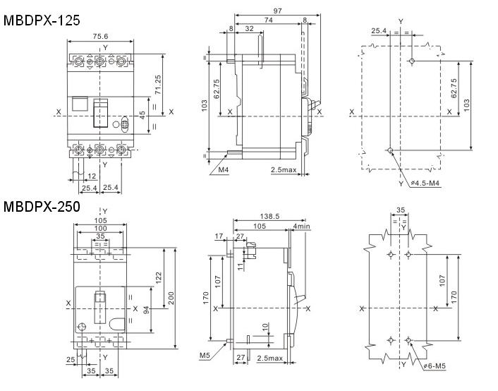 MBDPX-125 Dimension