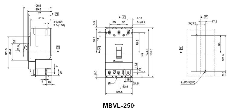 MBVL-250 Dimension