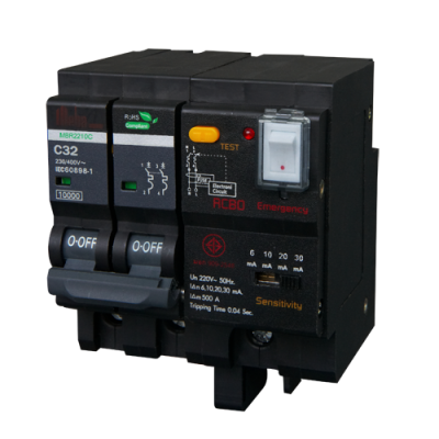 Meba residual current breakers with overcurrent protection electrical RCBOs MBR2210C