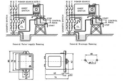 AFR-1 Floatless Relay Dimension